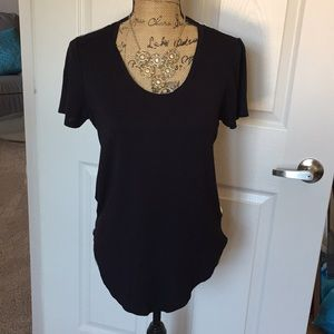 Black blouse.